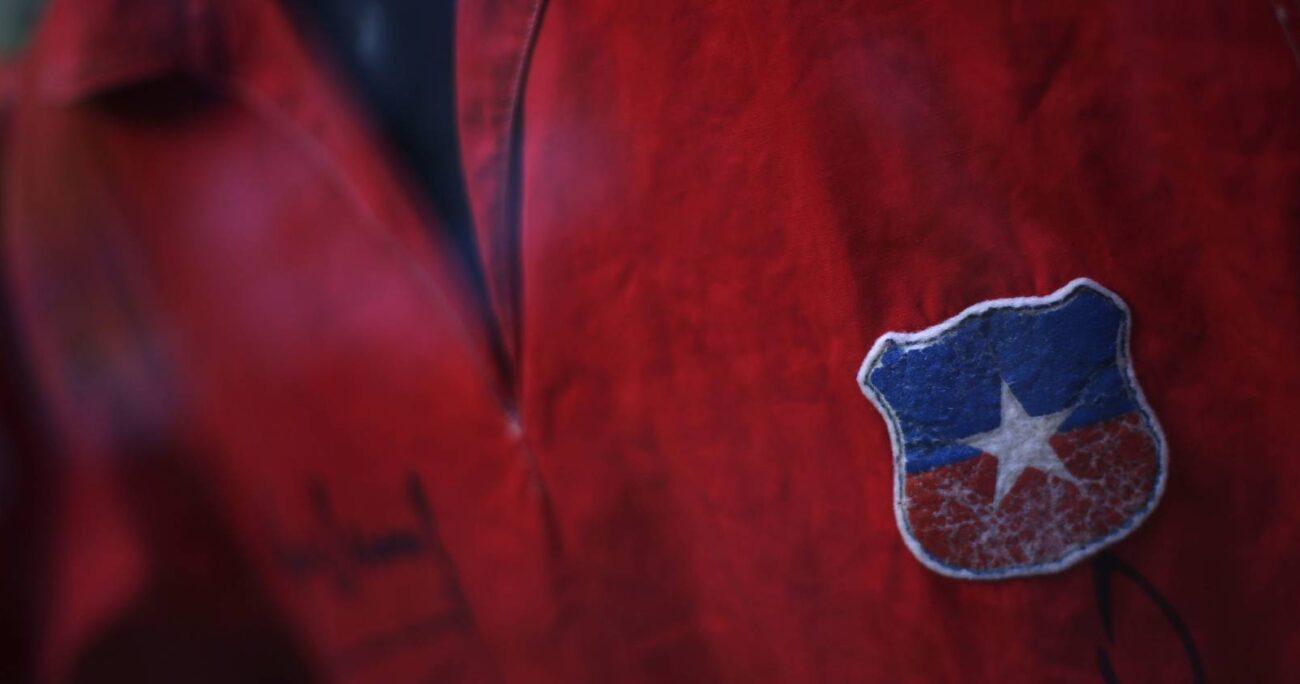 Camiseta usada por la Selección Chilena en el Mundial de 1962. Foto: Agencia Uno.