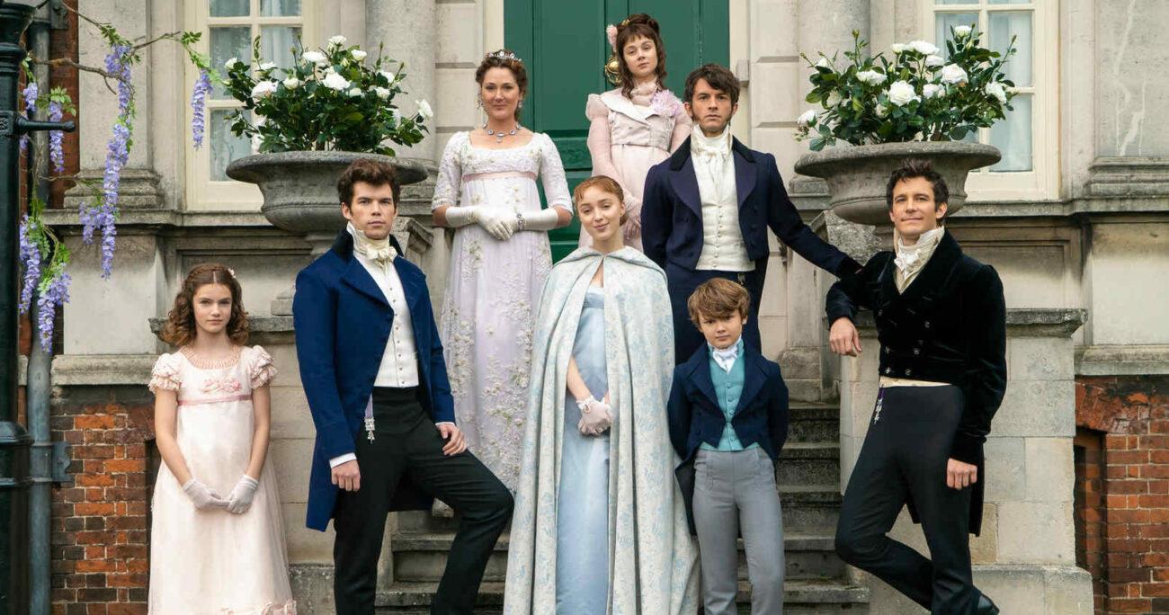 Imagen promocional del elenco de Bridgertone. Foto: Netflix.