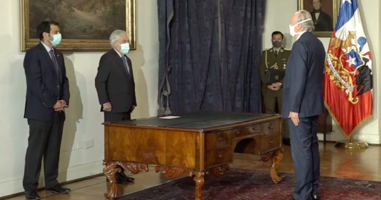 Cambio de gabinete en La Moneda. Fuente: Presidencia.