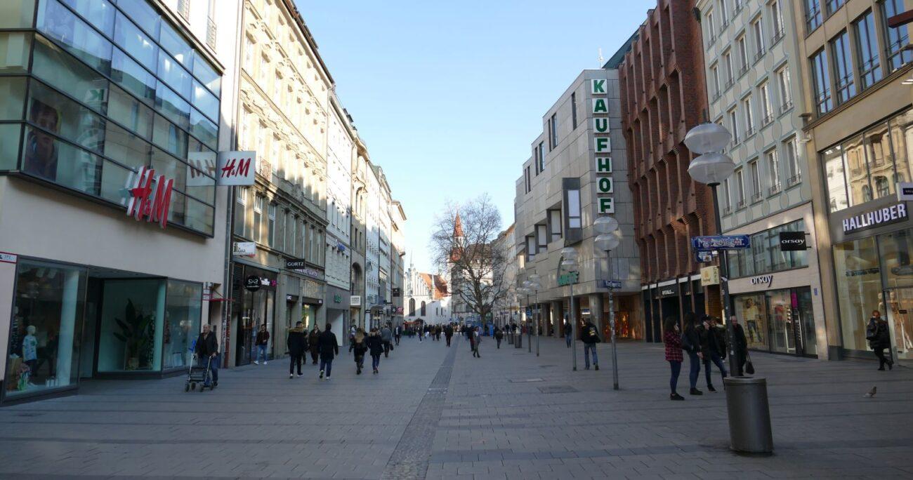 Las calles de Múnich durante el confinamiento. Foto: Xopolino/Wikimedia Commons
