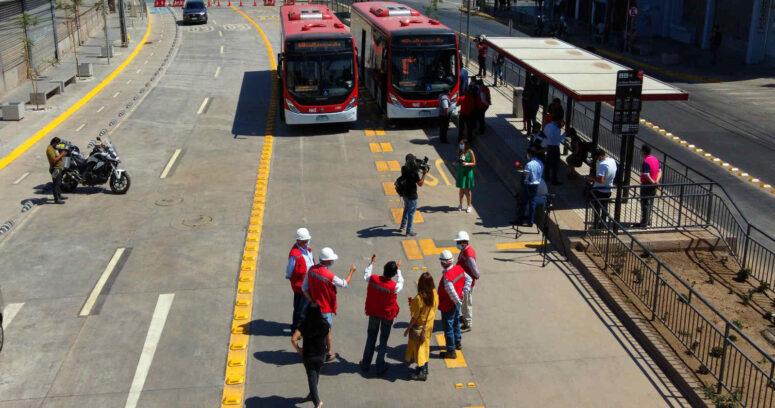 Inauguraron nuevo corredor para el transporte público en Independencia