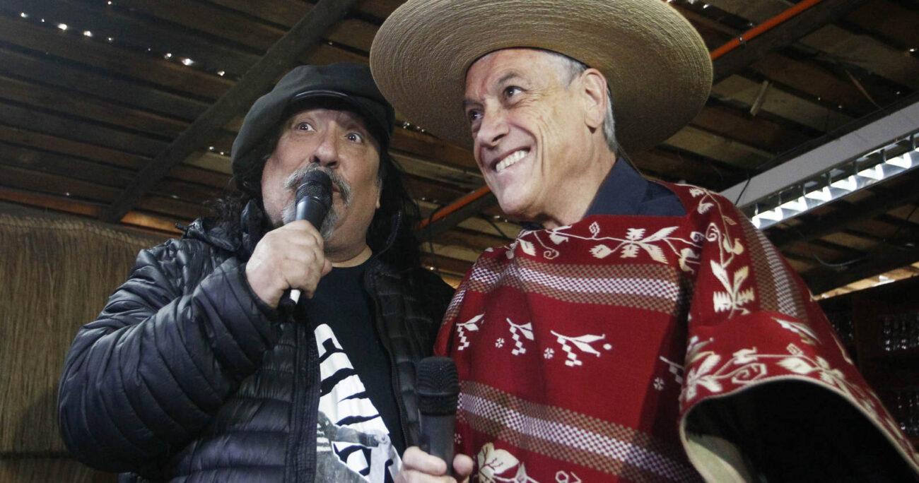 """Miguel """"Negro"""" Piñera junto a su hermano Sebastián en 2017. (Foto: Agencia Uno"""""""