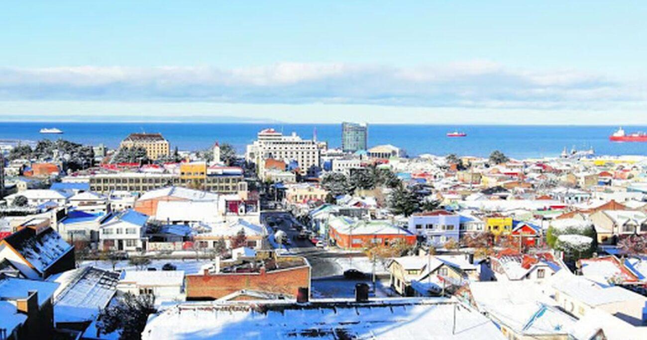 Una vista general de la ciudad de Punta Arenas. Foto: Agencia Uno