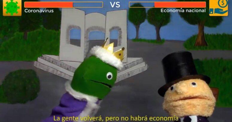 Escolares explican los efectos del COVID-19 en la economía con títeres y rap