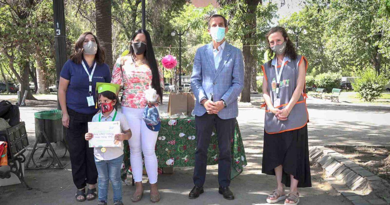 Ceremonia simbólica en Parque Almagro, comuna de Santiago. Foto: gentileza CMPC.