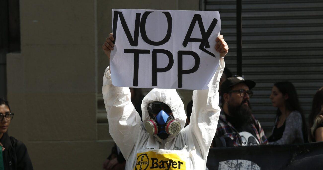 Protesta contra el TPP-11 - Foto: Agencia Uno