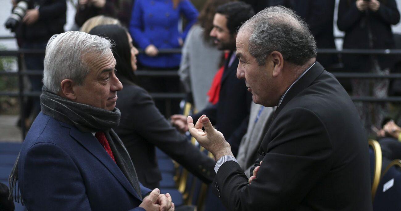 El ex ministro Mañalich junto con Luis Castillo. Foto: Agencia Uno