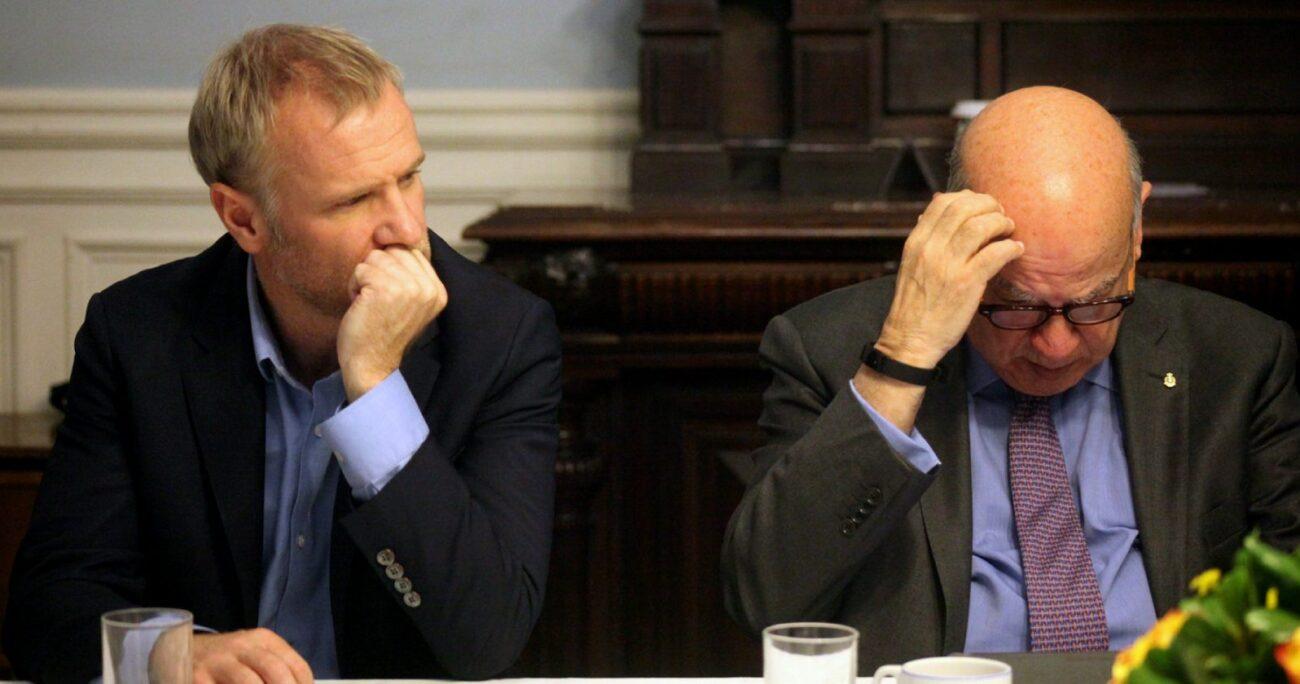 Ambos legisladores estaban interesados en llegar a La Moneda. Fuente: Agencia Uno.