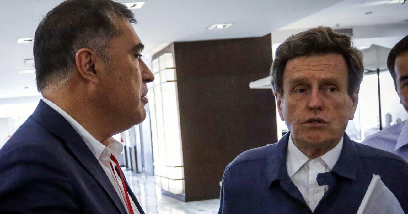 Mario Desbordes (izq) y Carlos Larraín (der). Foto: Agencia Uno.