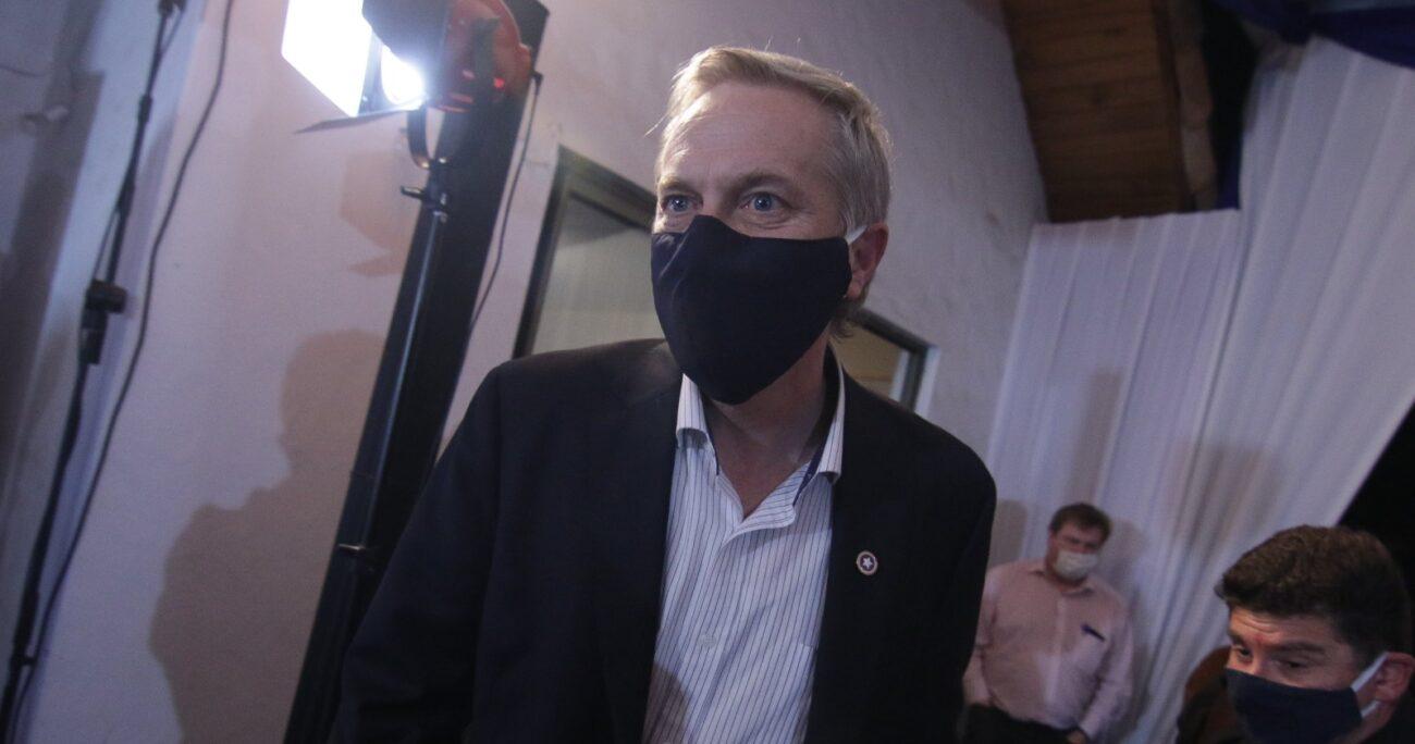 José Antonio Kast en la sede del Partido Republicano. Fuente: Agencia Uno.