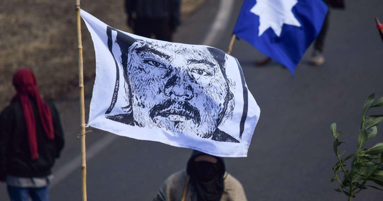 Manifestación en juicio por el homicidio de Camilo Catrillanca. Foto: Agencia Uno.
