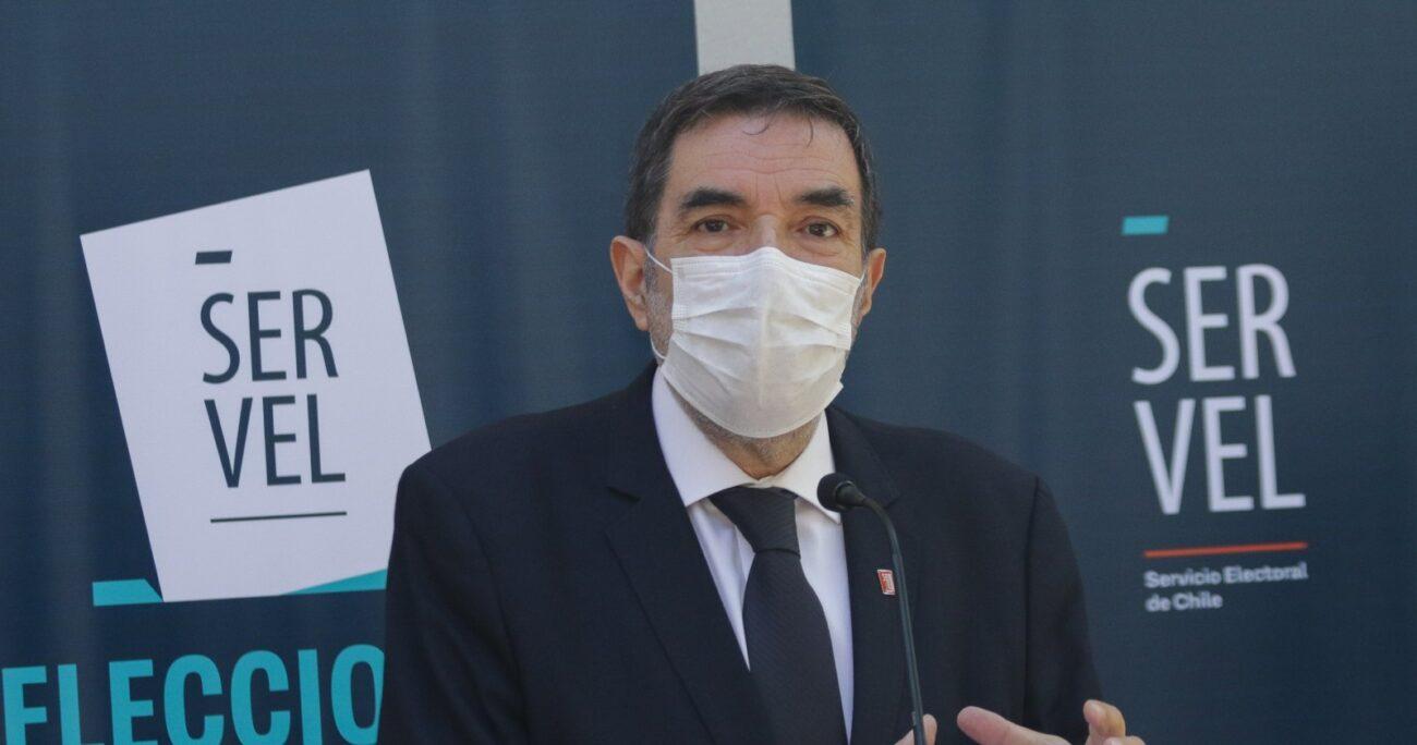 Patricio Santamaría, presidente del Consejo Directivo del Servel. Foto: Agencia Uno.