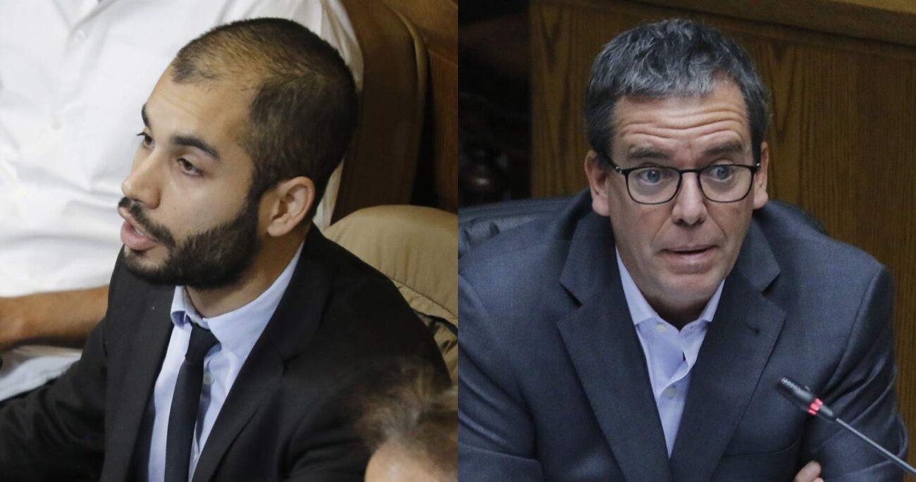 Renato Garín (der.) y Felipe Harboe (izq.) - Foto: Creación propia con imágenes de Agencia Uno