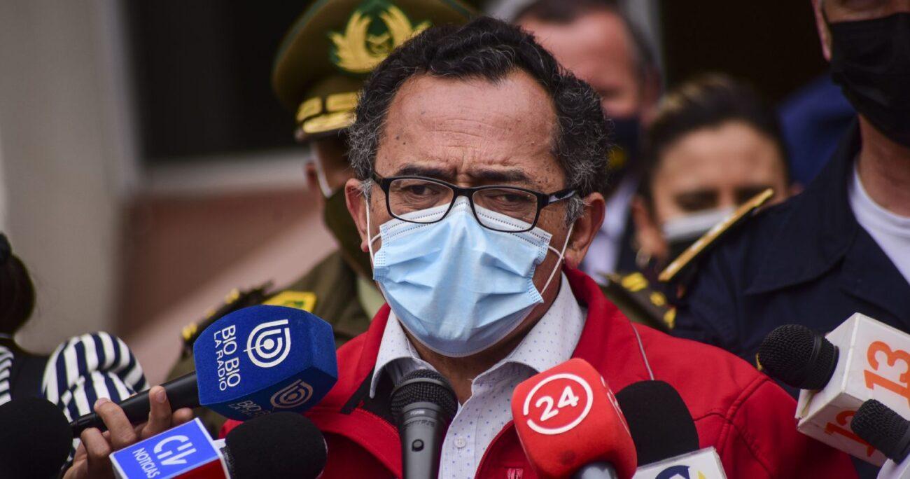 El intendente Jorge Martínez durante un punto de prensa. Fuente: Agencia Uno.