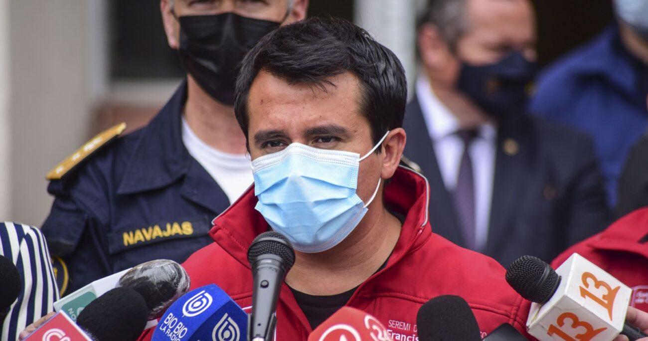 Francisco Álvarez apuntó contra los asistentes al evento. Foto: Agencia Uno