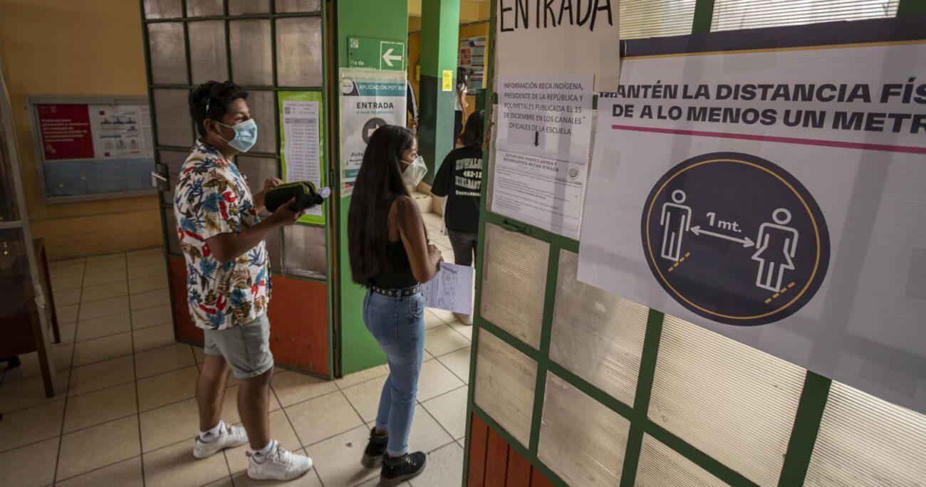 La prueba se realizó bajo protocolos sanitarios. Foto: Agencia Uno.