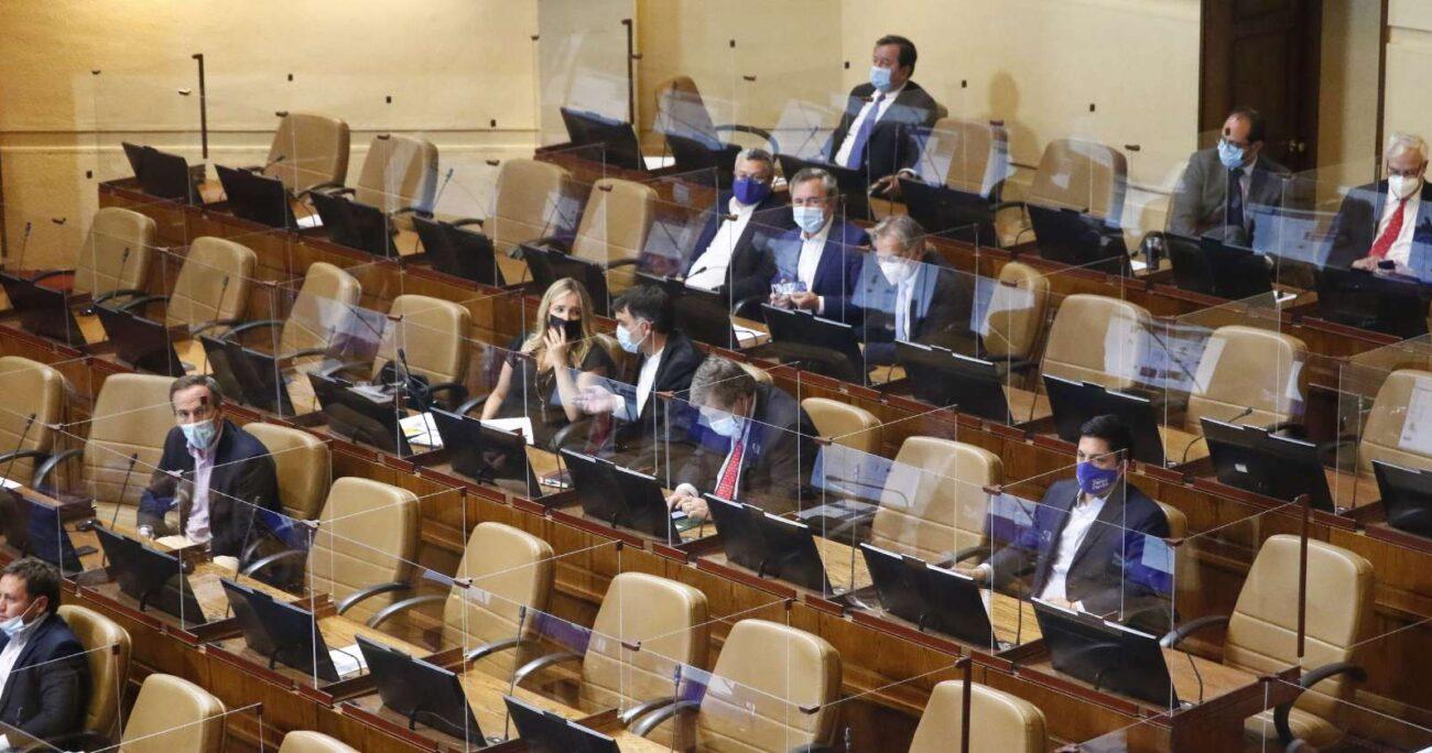 Sesión en sala de la Cámara de Diputados. Foto: Agencia Uno.