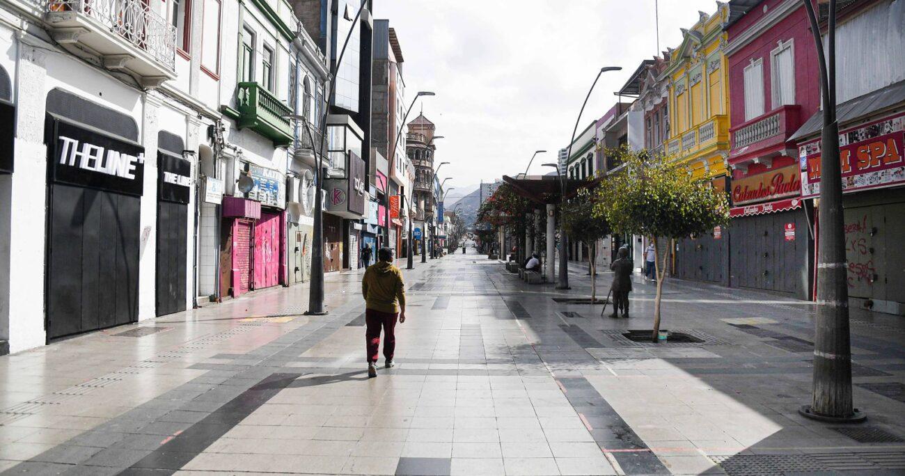La ciudad se encuentra actualmente en cuarentena. Foto: Agencia Uno.