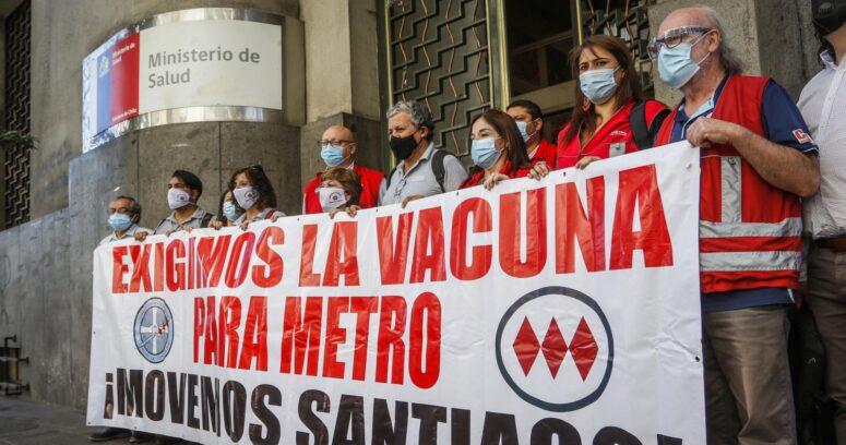 Trabajadores de Metro exigieron ser prioridad para la vacuna contra el COVID-19