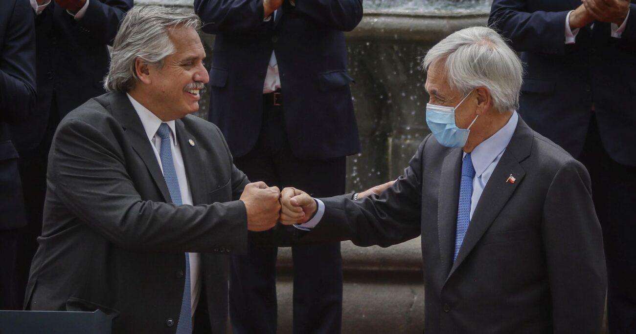 Los mandatarios durante su encuentro en Santiago. Foto: Agencia Uno