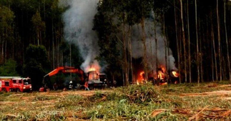 """""""67% aprueba aumentar penas por quema de camiones en La Araucanía"""""""