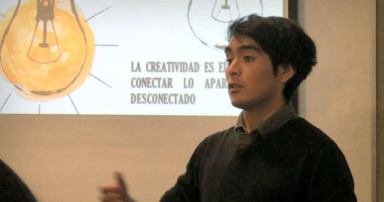 Andrés Villalón de Learning HubLab, uno de los ganadores. Foto: gentileza Universidad Andrés Bello.
