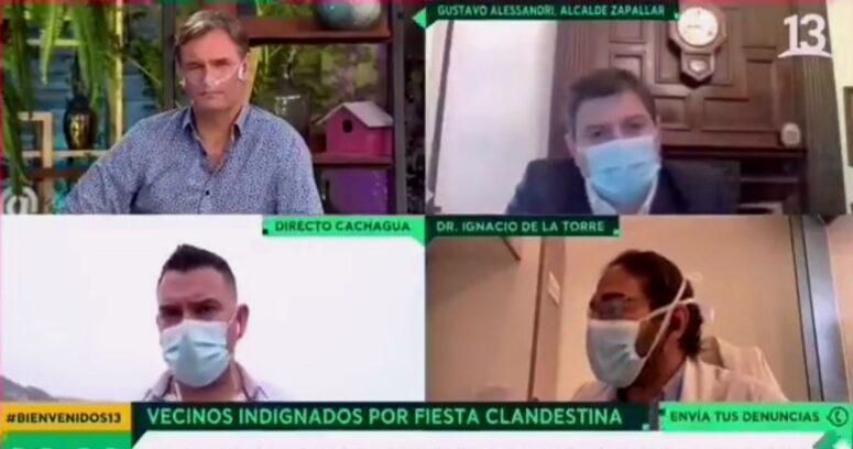 VIDEO – Desmienten en vivo a alcalde de Zapallar sobre cifras de contagios en la comuna
