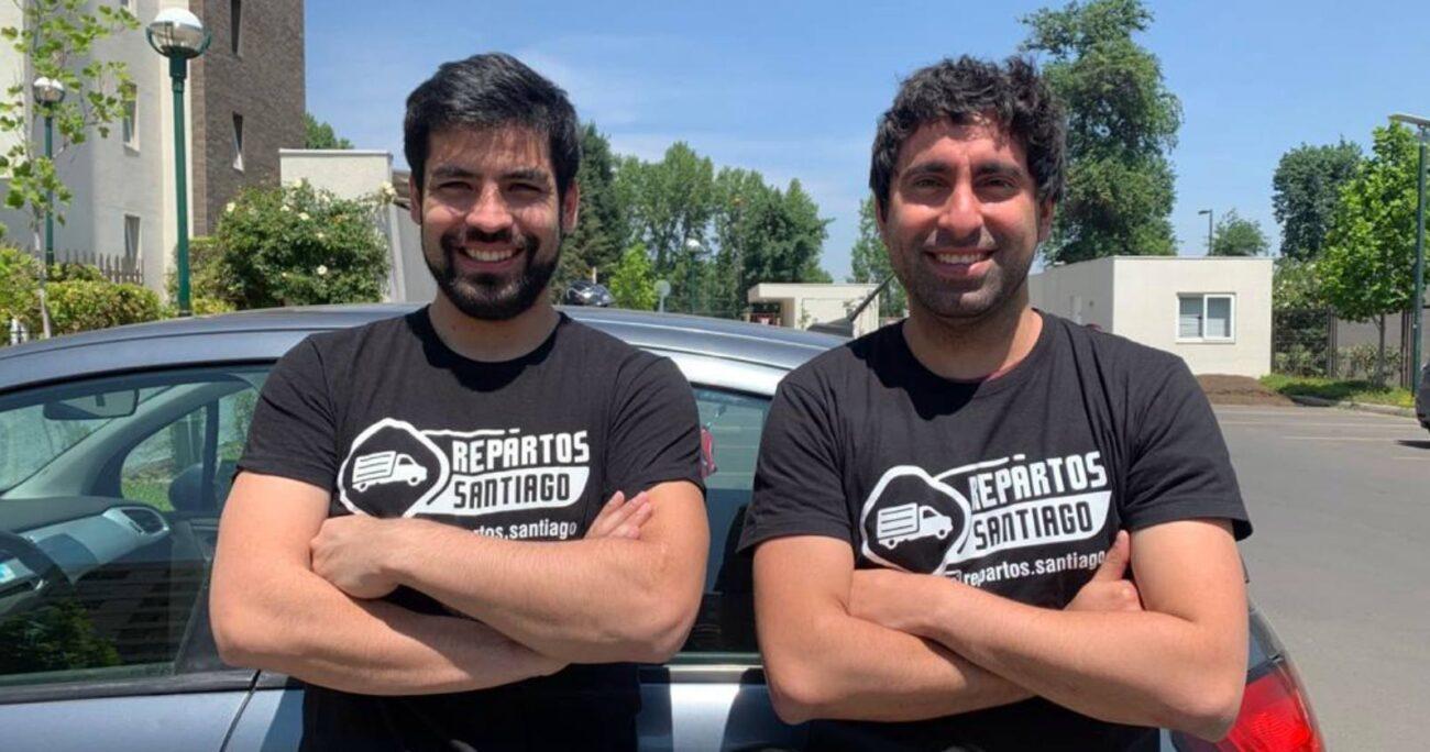 Pablo Jofré y Sebastián Cea, fundadores de Repartos Santiago. Foto: Repartos Santiago.