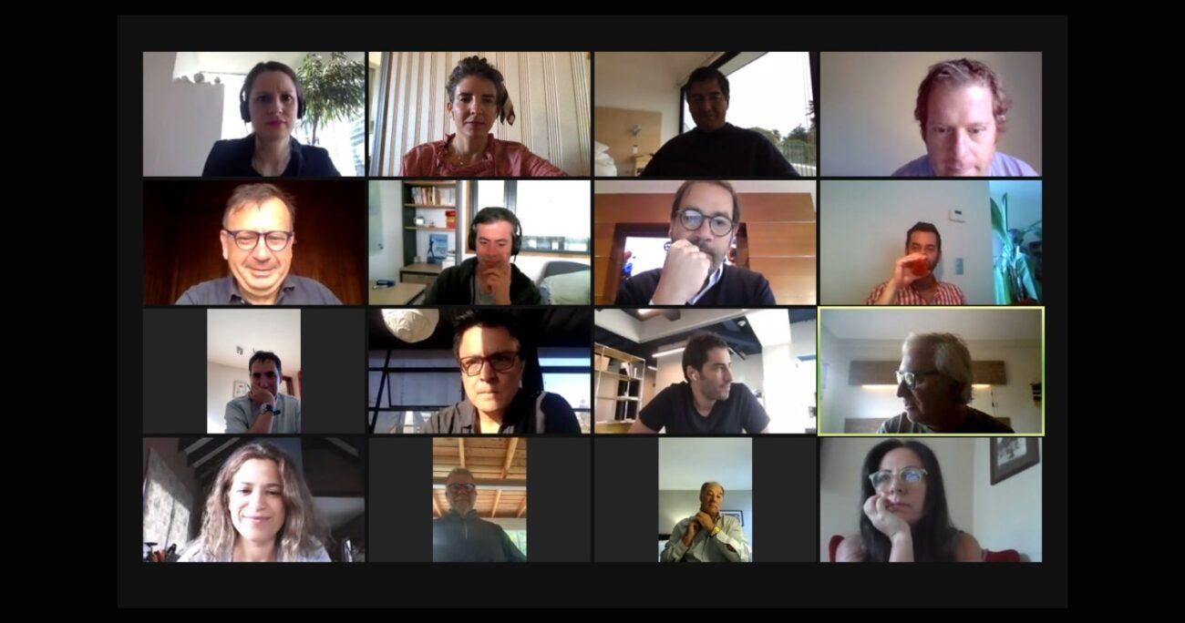 Conversatorio online de UNE. Foto: Un Nuevo Equilibrio.