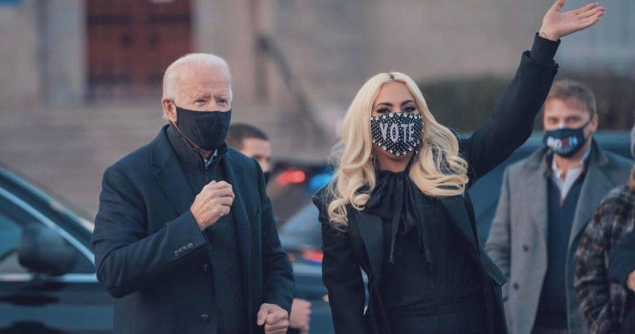 Lady Gaga jugó un rol protagónico durante la campaña de Biden en noviembre. Foto: Instagram.