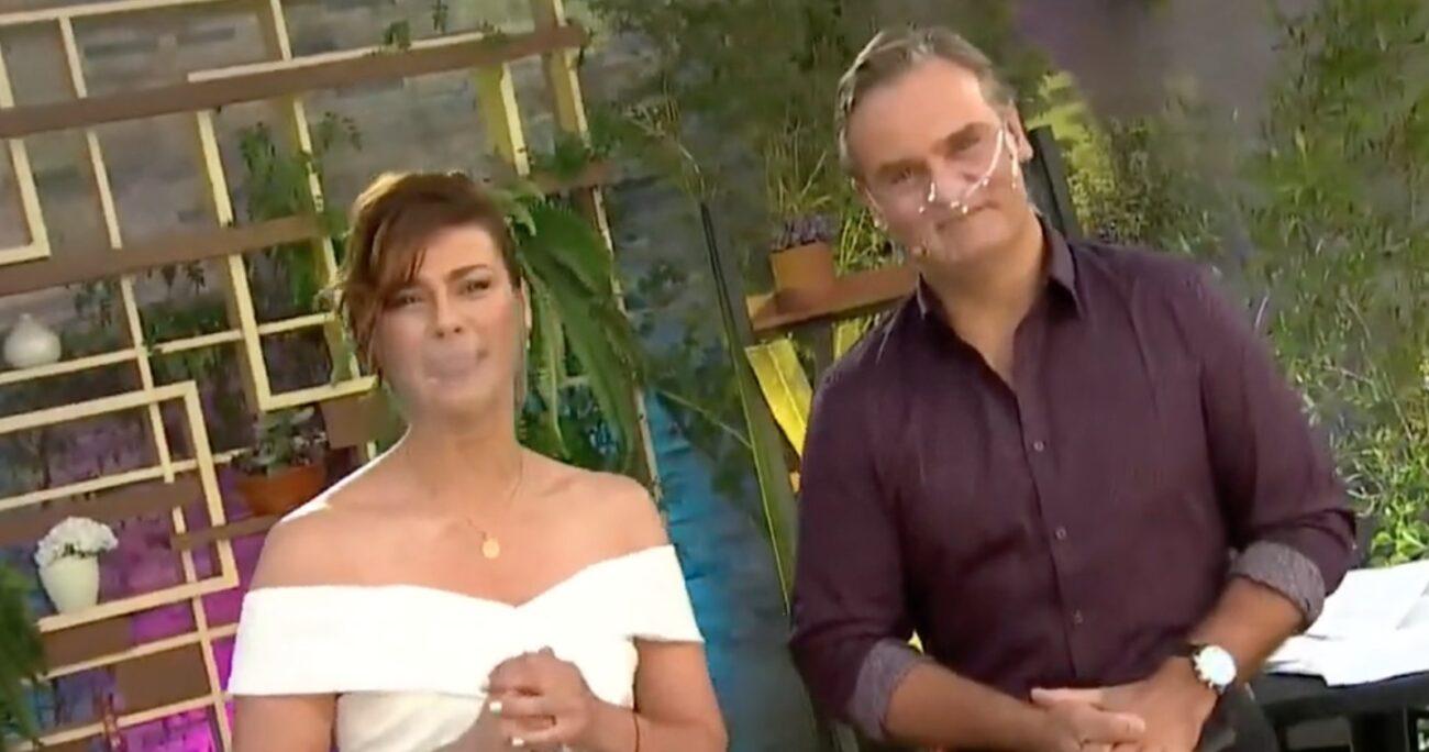 Tonka Tomicic y Amaro Gómez-Pablos se mantienen en la conducción del matinal de Canal 13. Foto: captura de pantalla/Canal 13.