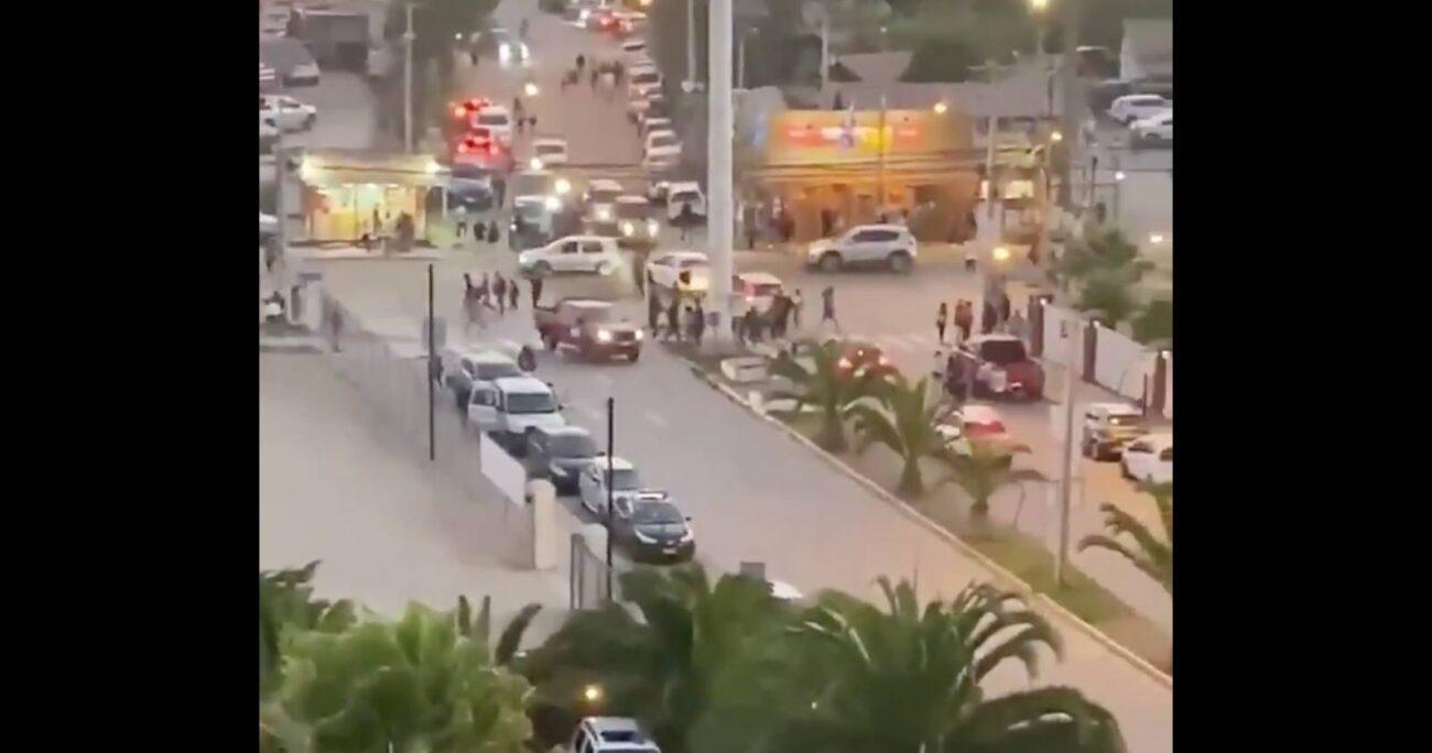 En La Serena reaccionaron de inmediato a la alerta. Foto: Captura de pantalla.