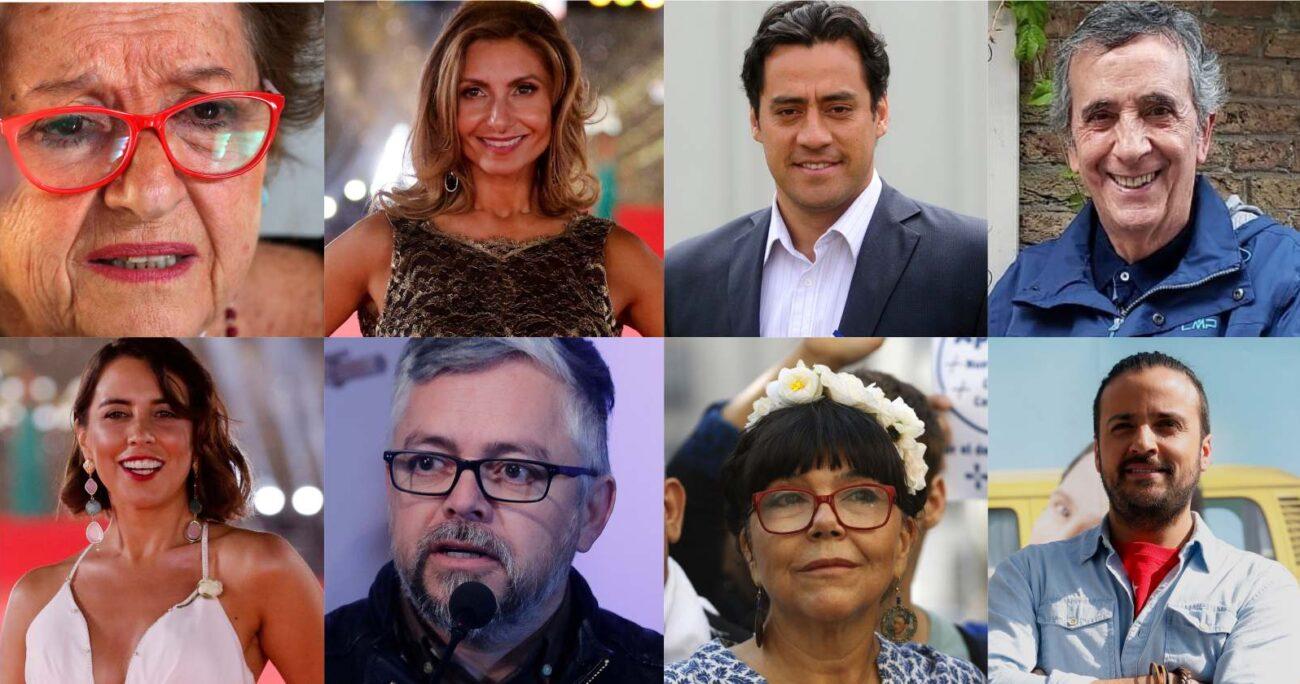 Rostros y ex rostros de la TV son la gran mayoría de este grupo. Fotos: Agencia Uno.