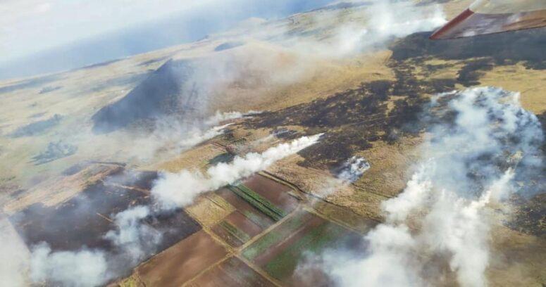 Logran controlar focos de incendio forestal en Rapa Nui