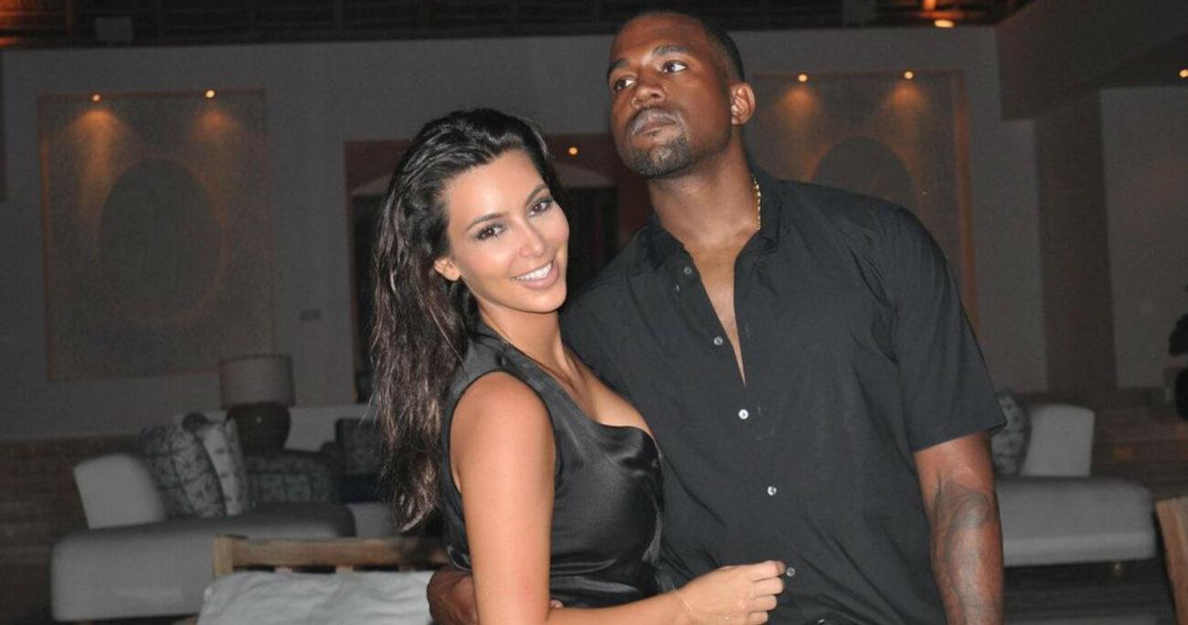 La pareja en una de las fotos que Kim Kardashian publicó en su Instagram.