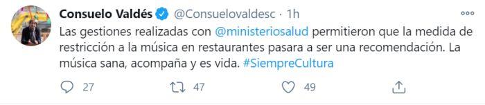gobierno música restaurantes