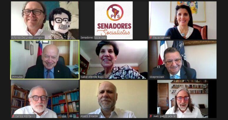 Senadores PS respaldaron la precandidatura presidencial de Paula Narváez