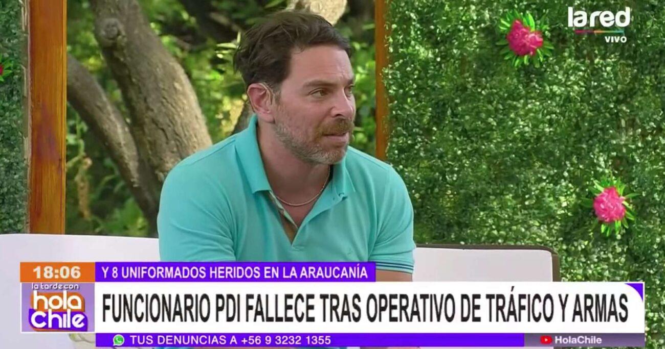 Las declaraciones que molestaron a la hermana del funcionario PDI fallecido ocurrieron el 7 de enero en Hola Chile. Foto: captura de pantalla/La Red.