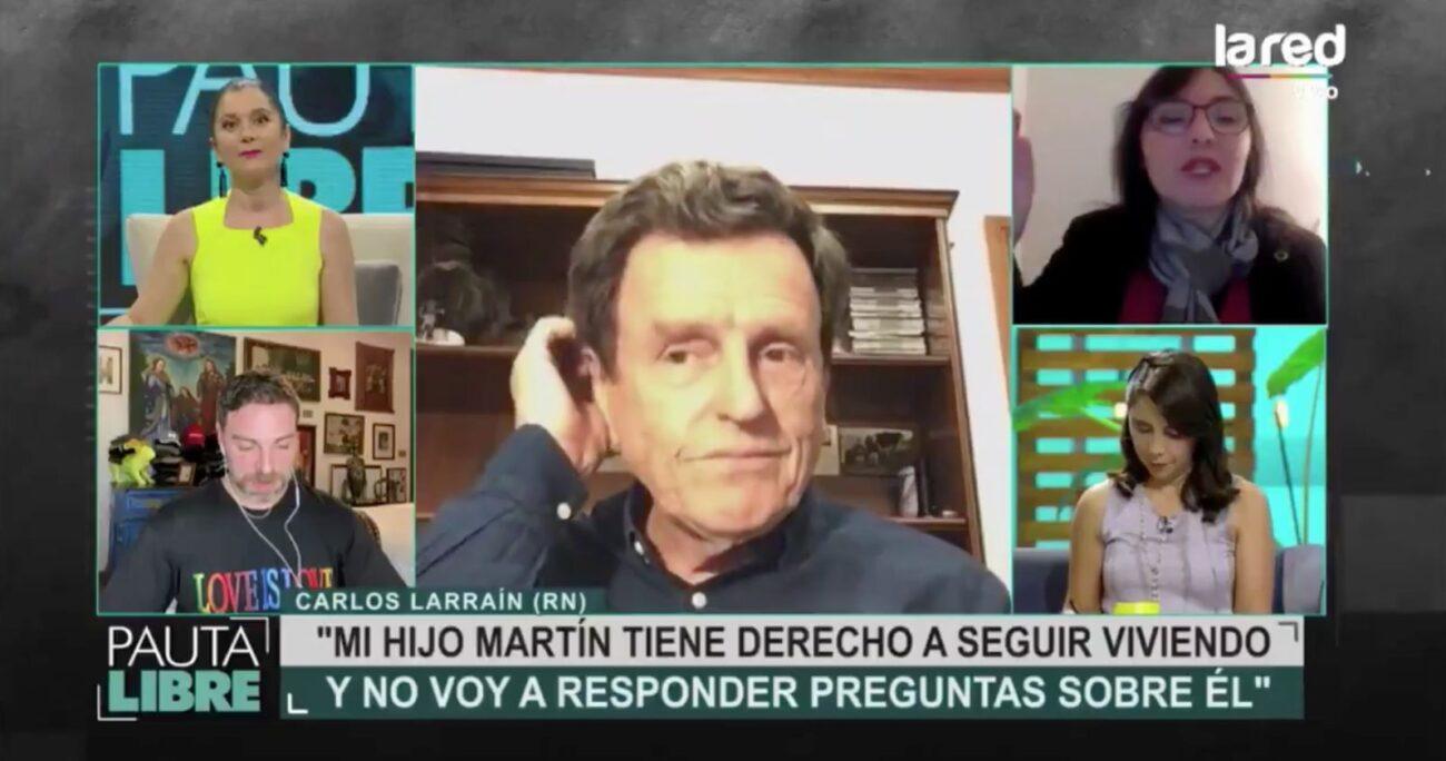 El ex senador no soportó la actitud que tuvieron con él los periodistas. Foto: Captura de pantalla/La Red.