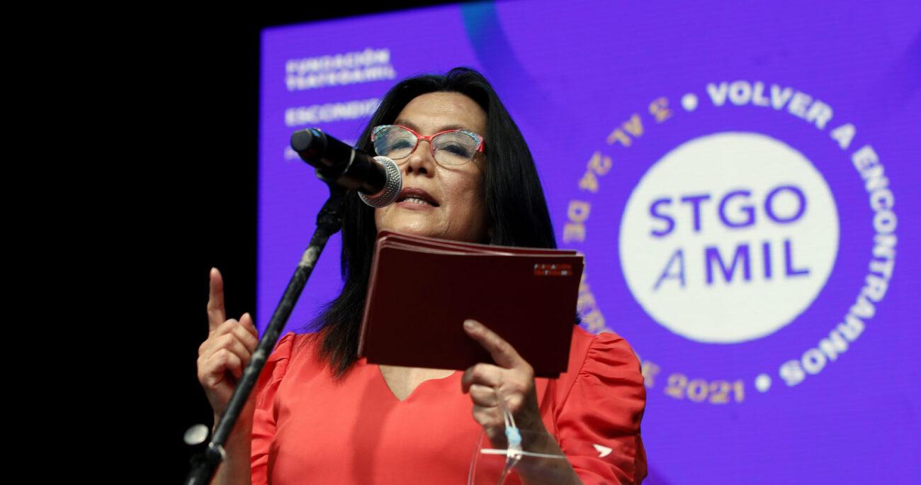 Carmen Romero, directora de la Fundación Teatro a Mil. Foto: Agencia Uno.