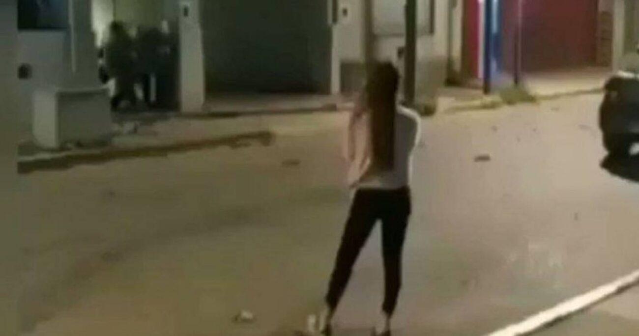 La joven que recibió el disparo cerca de su ojo izquierdo fue identificada como Nerina (Captura de pantalla)