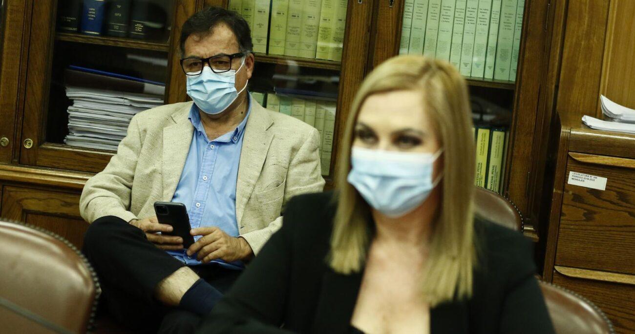 Además de ser su jefe de gabinete, Pablo Maltés es la pareja de Jiles. (Agencia UNO/Archivo).