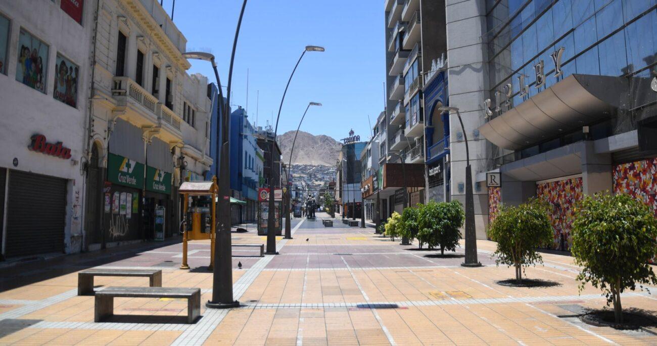El centro de la ciudad nortina durante la cuarentena. Foto: Agencia Uno