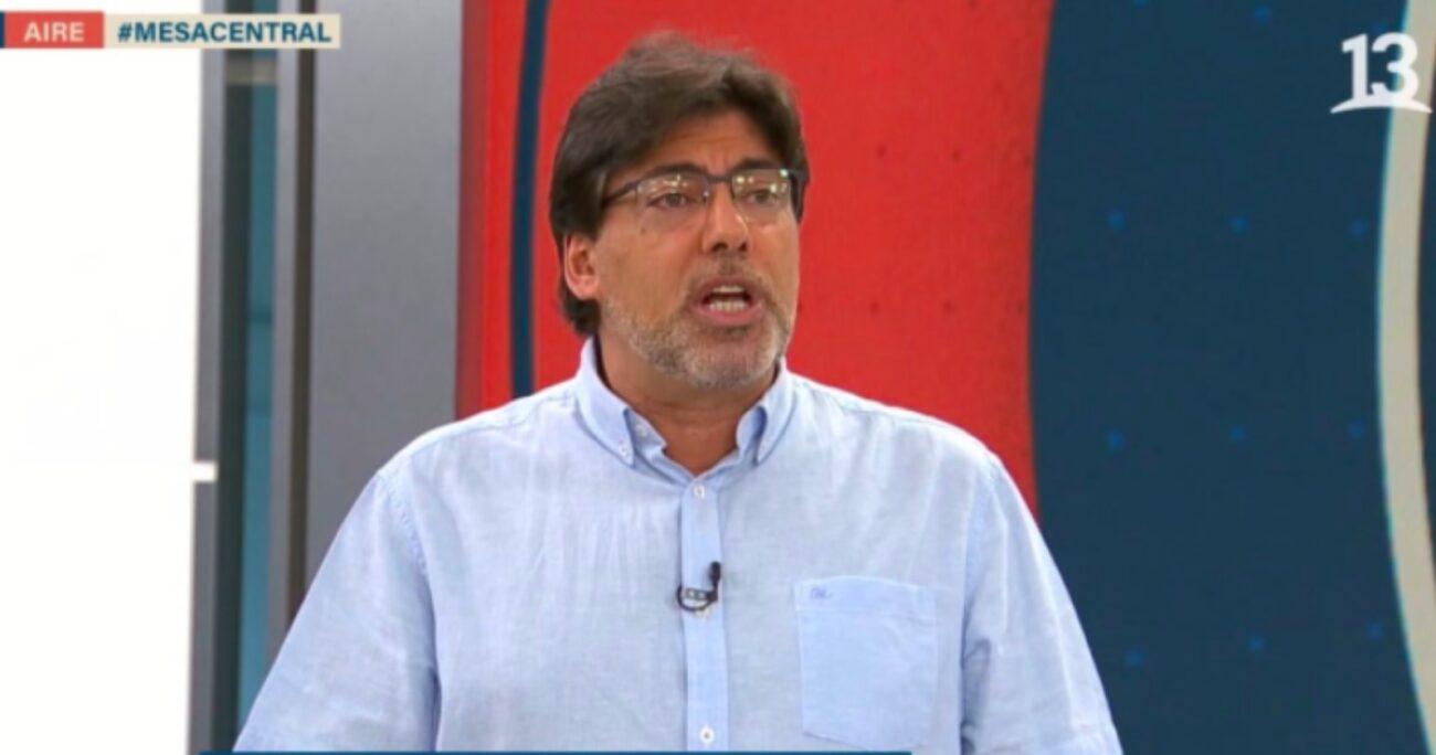 El jefe comunal de Recoleta fue invitado al programa Mesa Central. Fuente: Captura Canal 13.