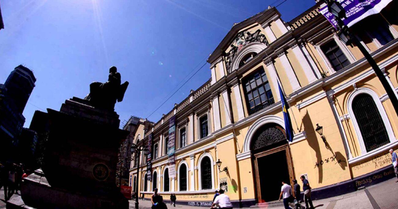 Casa Central de la Universidad de Chile. Foto: gentileza del plantel universitario.