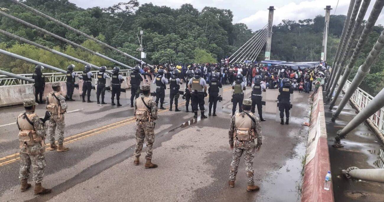 Los migrantes manifestaron su intención de continuar su paso hacia diferentes países. (Foto: @CCFFAA_PERU)