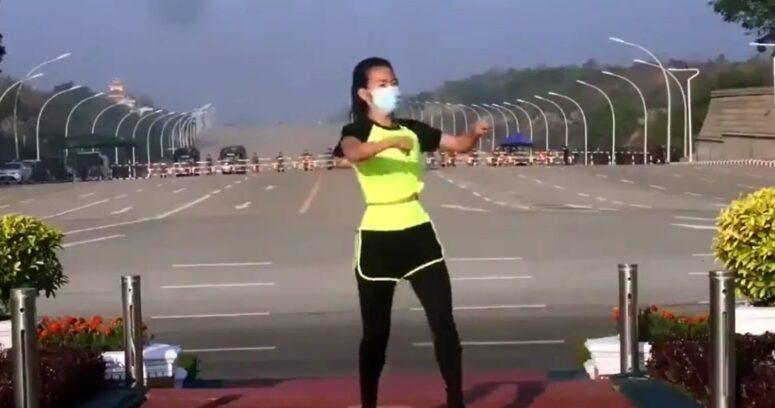 VIDEO – Instructora de aerobics grabó la preparación del golpe de Estado en Myanmar