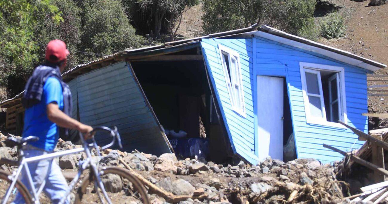 Malloa, en la región de O'Higgins, fue una de las más afectadas por las lluvias. Foto: Agencia Uno.
