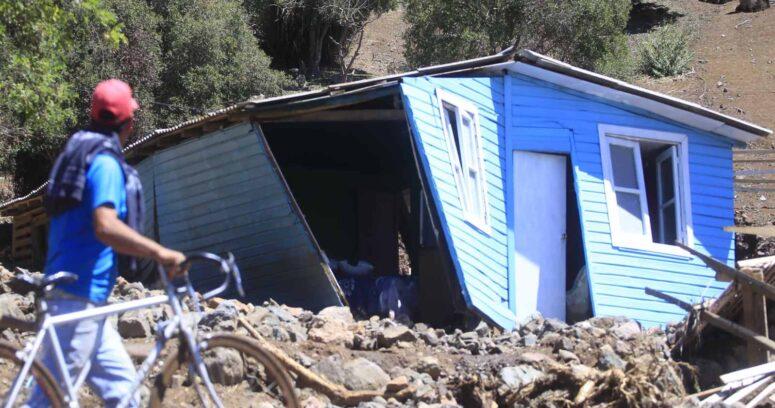 Balance de la Onemi por sistema frontal: cinco viviendas destruidas y 187 damnificados