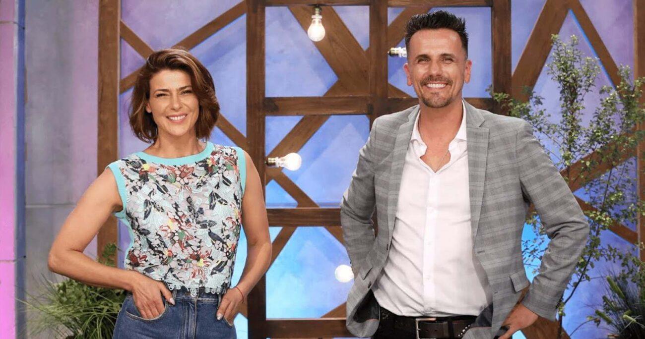 Sergio Lagos y Tonka Tomicic están a cargo de la animación del matinal. (Canal 13).